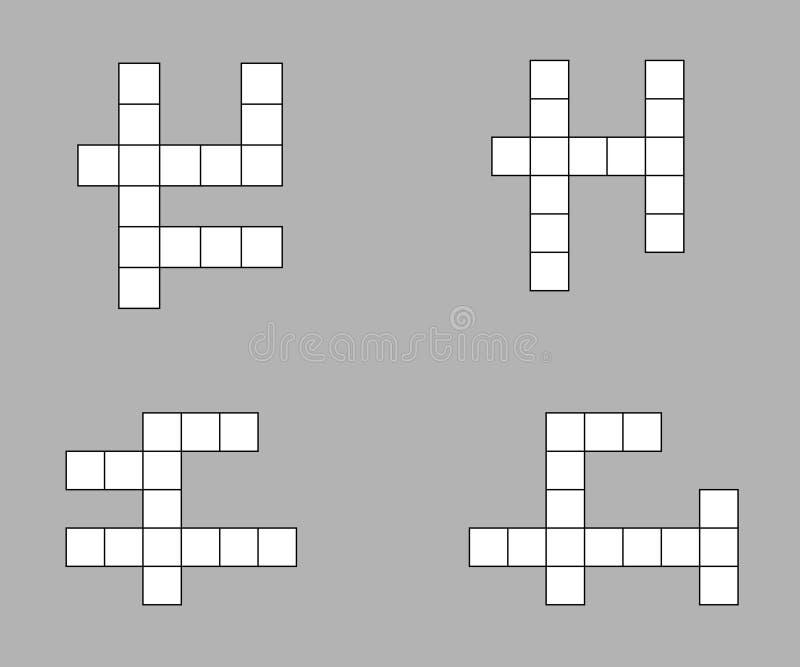 Icona delle parole incrociate illustrazione vettoriale