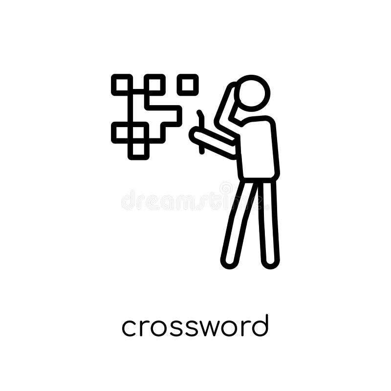 Icona delle parole incrociate  illustrazione di stock