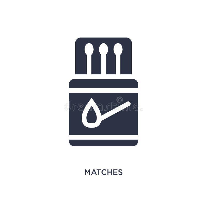 icona delle partite su fondo bianco Illustrazione semplice dell'elemento dal concetto di campeggio illustrazione di stock