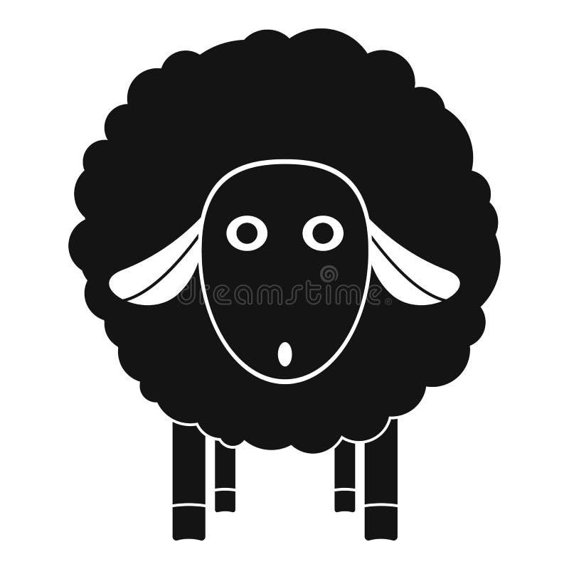 Icona delle pecore di wow, stile semplice illustrazione vettoriale