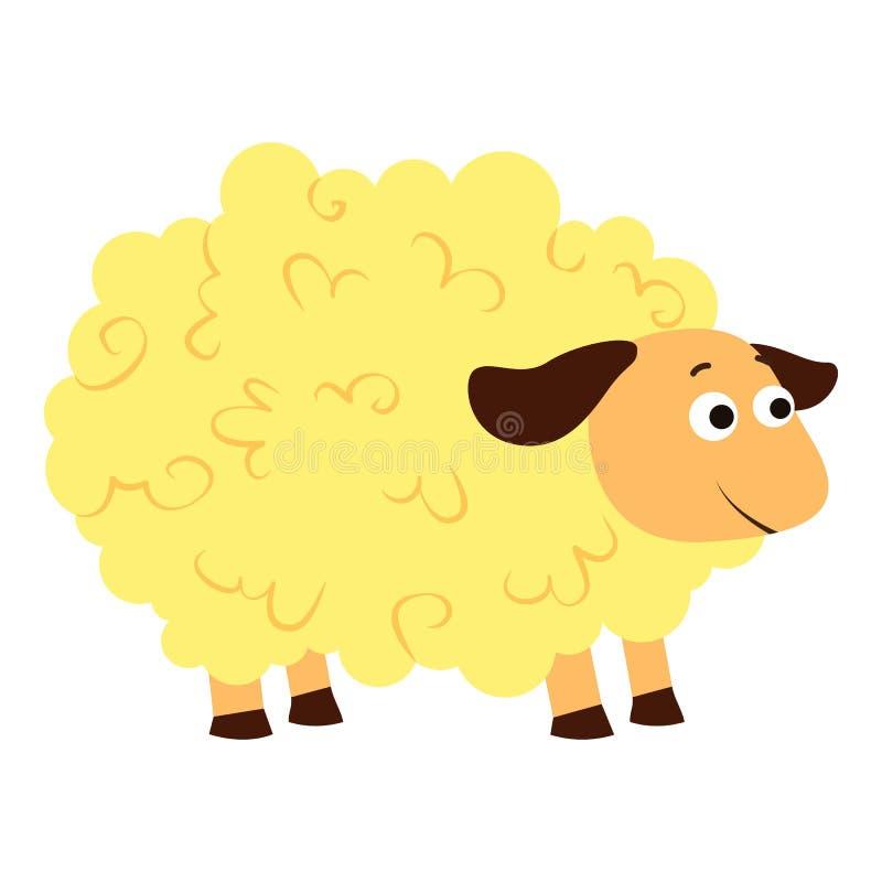 Icona delle pecore, stile del fumetto illustrazione vettoriale