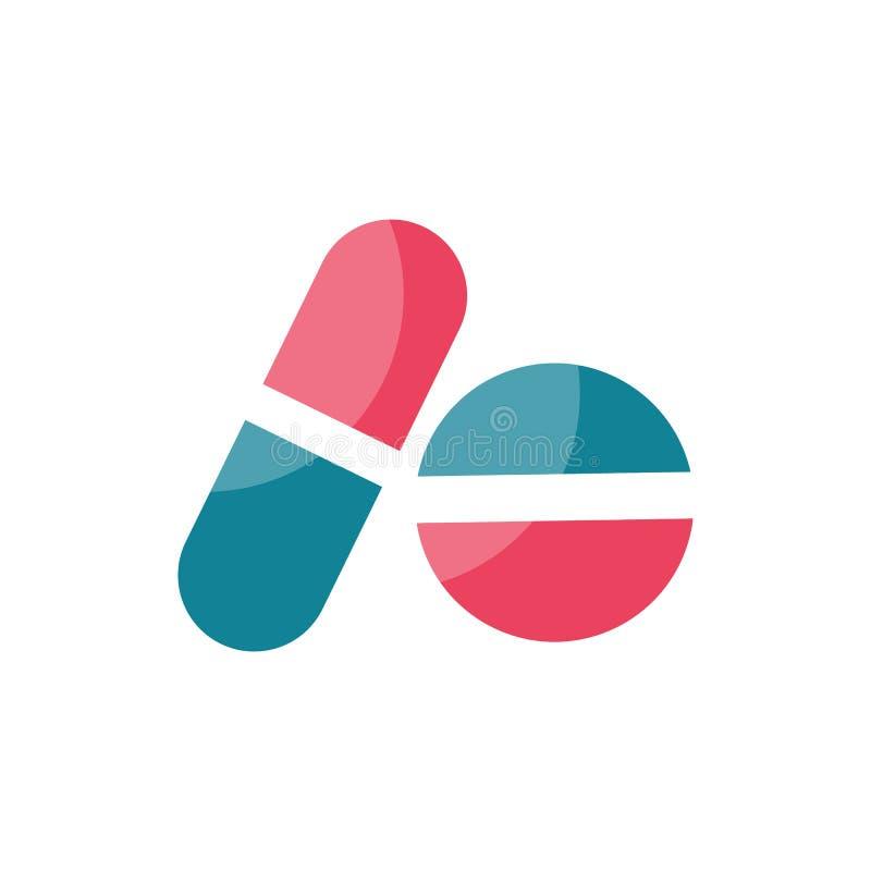 Icona delle pillole Elemento per progettazione illustrazione di stock