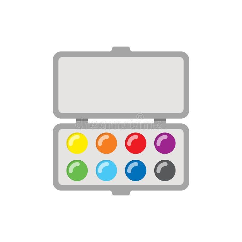 Icona delle pitture Oggetto di vettore con stile piano illustrazione vettoriale