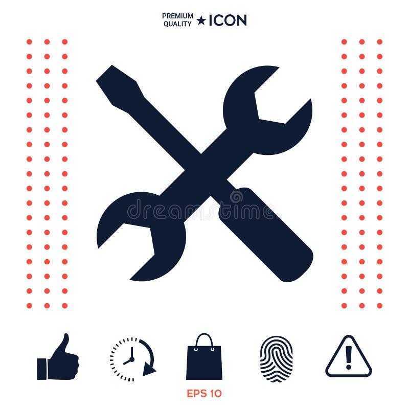 Download Icona Delle Regolazioni - Chiave E Cacciavite Illustrazione Vettoriale - Illustrazione di industria, regolazioni: 117976782