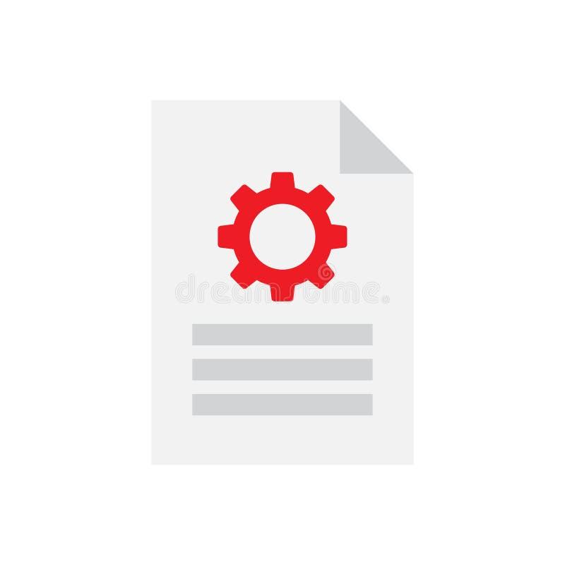 Icona delle regolazioni del documento royalty illustrazione gratis