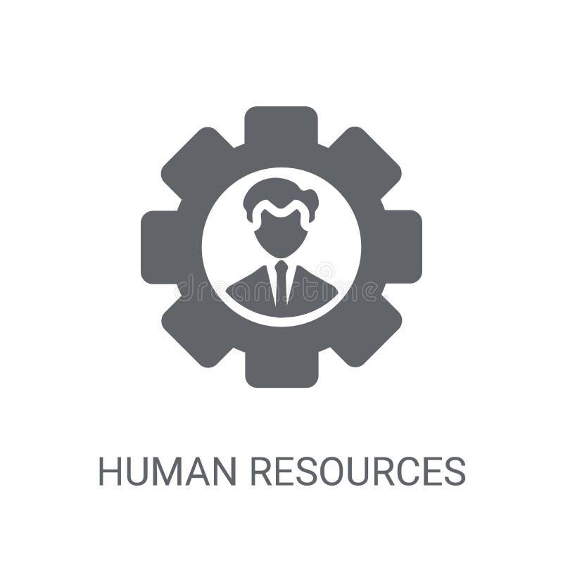 Icona delle risorse umane Concetto d'avanguardia di logo delle risorse umane sul whi illustrazione di stock