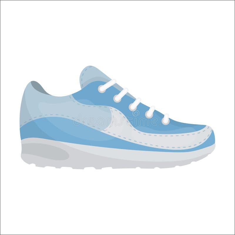 Icona delle scarpe da tennis nello stile del fumetto su fondo bianco Calza l'illustrazione di riserva di vettore di simbolo royalty illustrazione gratis