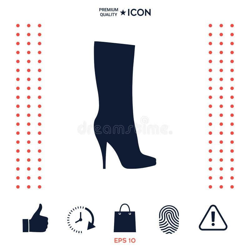 Download Icona Delle Scarpe Delle Donne, La Siluetta Moderna Voce Di Menu Nel Web Design Illustrazione Vettoriale - Illustrazione di pelle, bello: 117977604