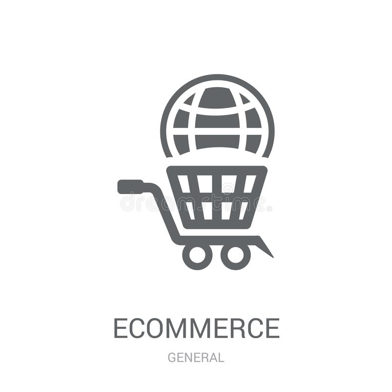 icona delle soluzioni di commercio elettronico  illustrazione di stock