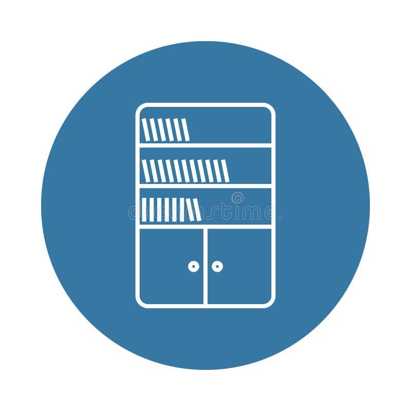 icona dello scaffale Elemento delle icone delle riviste e dei libri per i apps mobili di web e di concetto L'icona dello scaffale illustrazione di stock