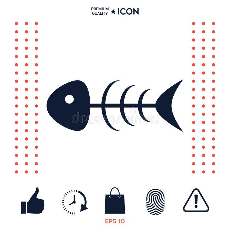 Download Icona Dello Scheletro Del Pesce Illustrazione Vettoriale - Illustrazione di disegno, figura: 117975054