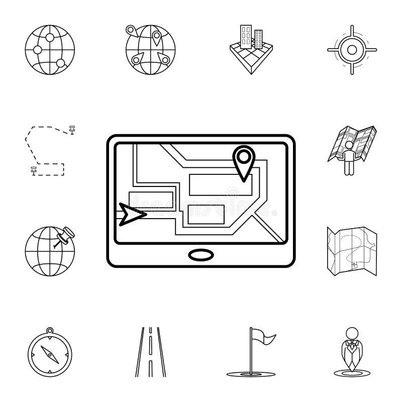 icona dello schermo del navigatore Insieme dettagliato delle icone di navigazione Progettazione grafica premio Una delle icone de illustrazione di stock