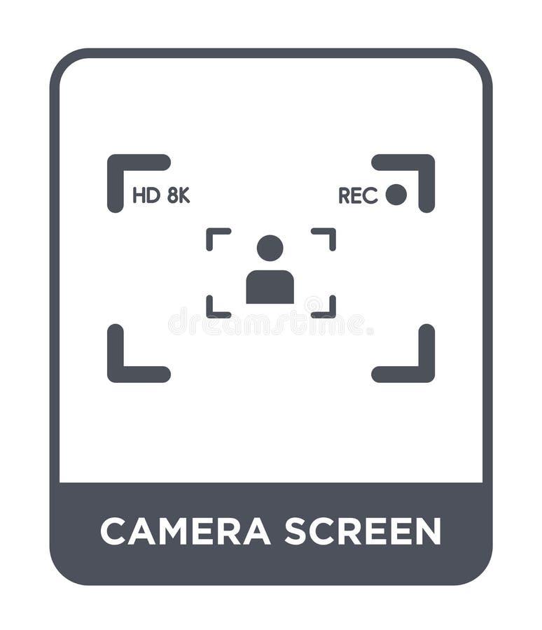 icona dello schermo della macchina fotografica nello stile d'avanguardia di progettazione icona dello schermo della macchina foto illustrazione di stock