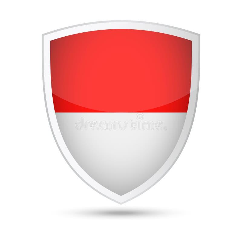 Icona dello schermo di vettore della bandiera dell'Indonesia illustrazione di stock