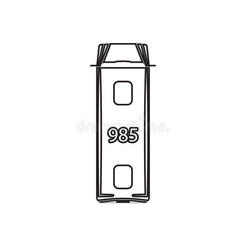 Icona dello scuolabus Elemento della vista di trasporto da sopra per il concetto e l'icona mobili dei apps di web Profilo, linea  royalty illustrazione gratis