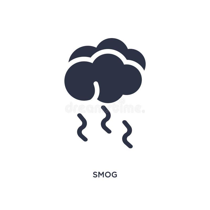 icona dello smog su fondo bianco Illustrazione semplice dell'elemento dal concetto del tempo illustrazione vettoriale