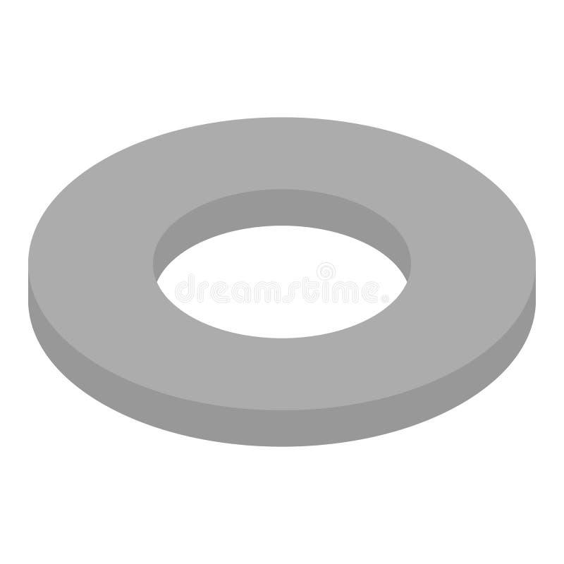 Icona dello spessore dal metallo, stile isometrico illustrazione vettoriale