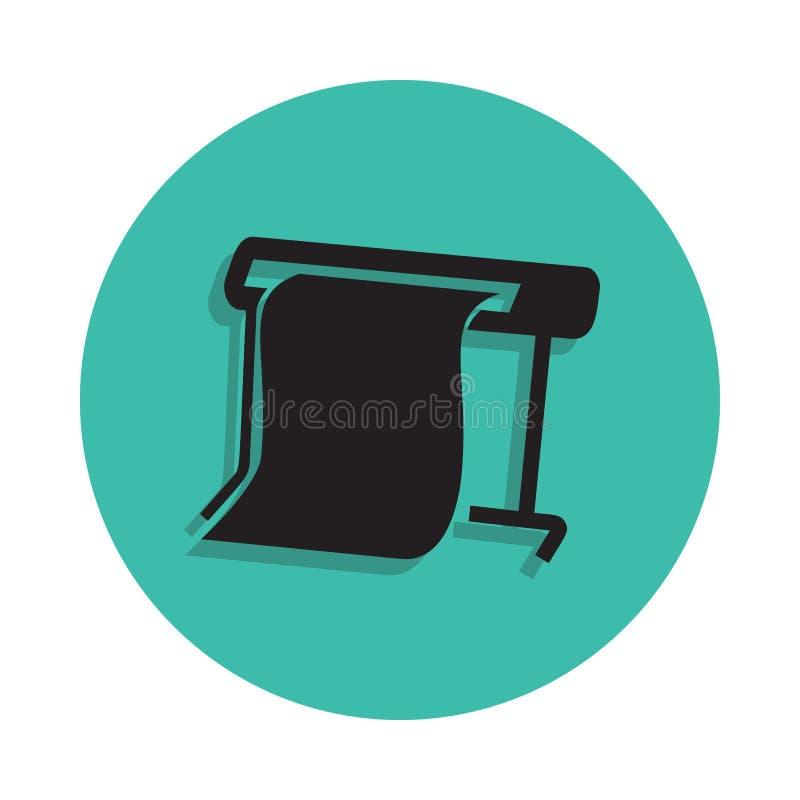icona dello sprinter del tabellone per le affissioni Elemento della stamperia per il concetto e l'icona mobili dei apps di web Li illustrazione di stock