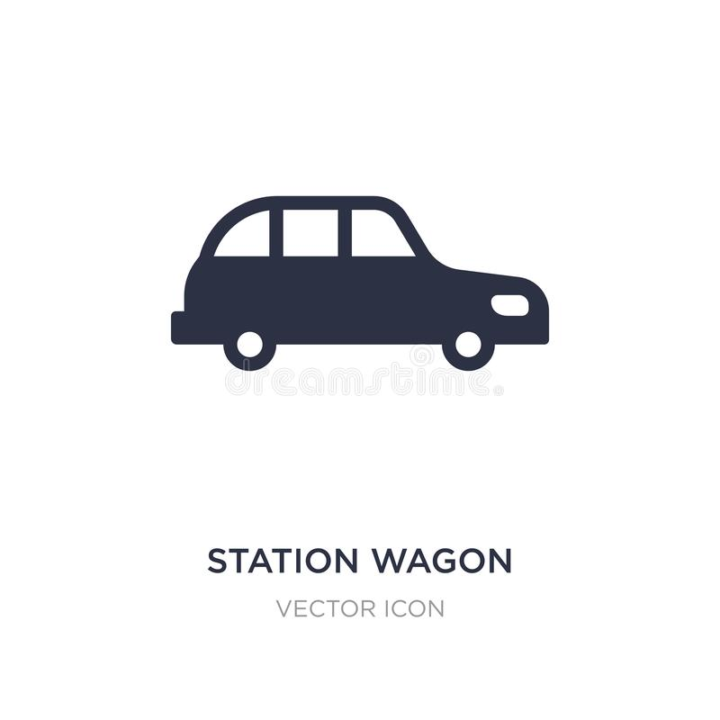 icona dello station wagon su fondo bianco Illustrazione semplice dell'elemento dal concetto di trasporto illustrazione vettoriale