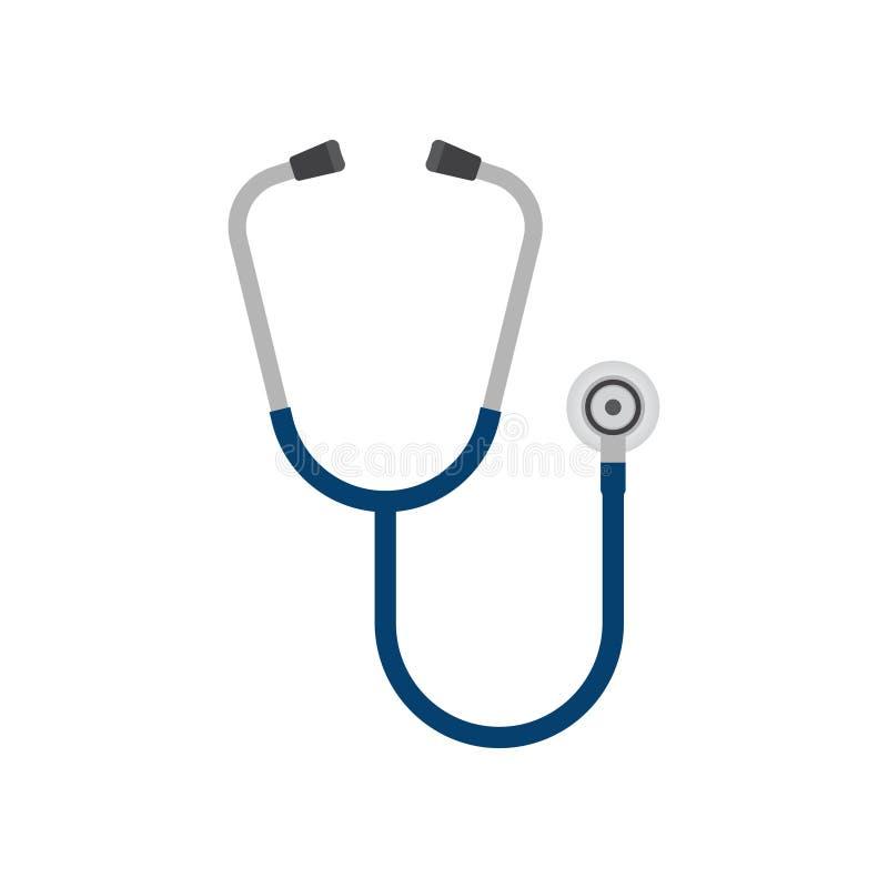 Icona dello stetoscopio, phonendoscope illustrazione vettoriale