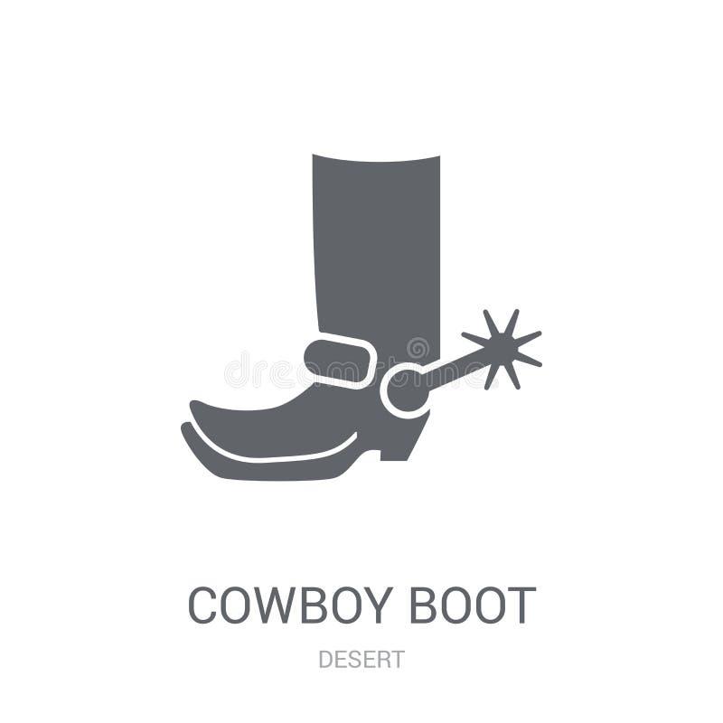 Icona dello stivale di cowboy  illustrazione di stock