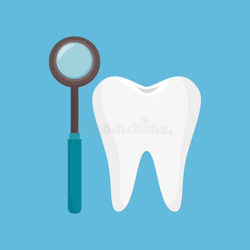 Icona dello strumento del dente di odontologia illustrazione vettoriale