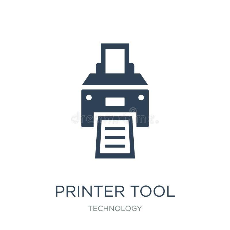 icona dello strumento della stampante nello stile d'avanguardia di progettazione icona dello strumento della stampante isolata su illustrazione vettoriale