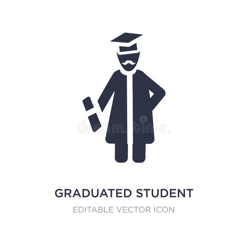 icona dello studente graduato su fondo bianco Illustrazione semplice dell'elemento dal concetto della gente illustrazione vettoriale
