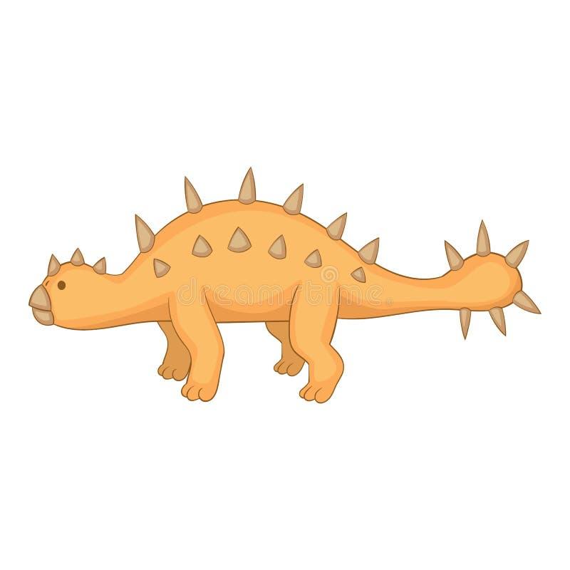 Icona dello Styracosaurus, stile del fumetto royalty illustrazione gratis