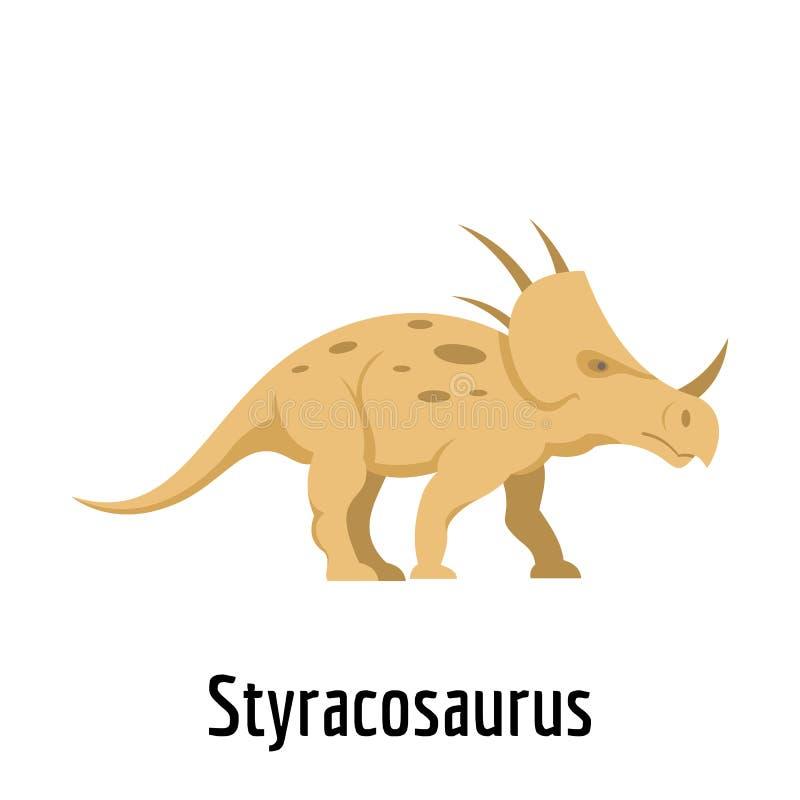 Icona dello Styracosaurus, stile piano royalty illustrazione gratis