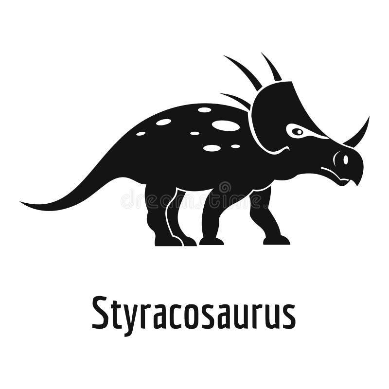 Icona dello Styracosaurus, stile semplice illustrazione di stock