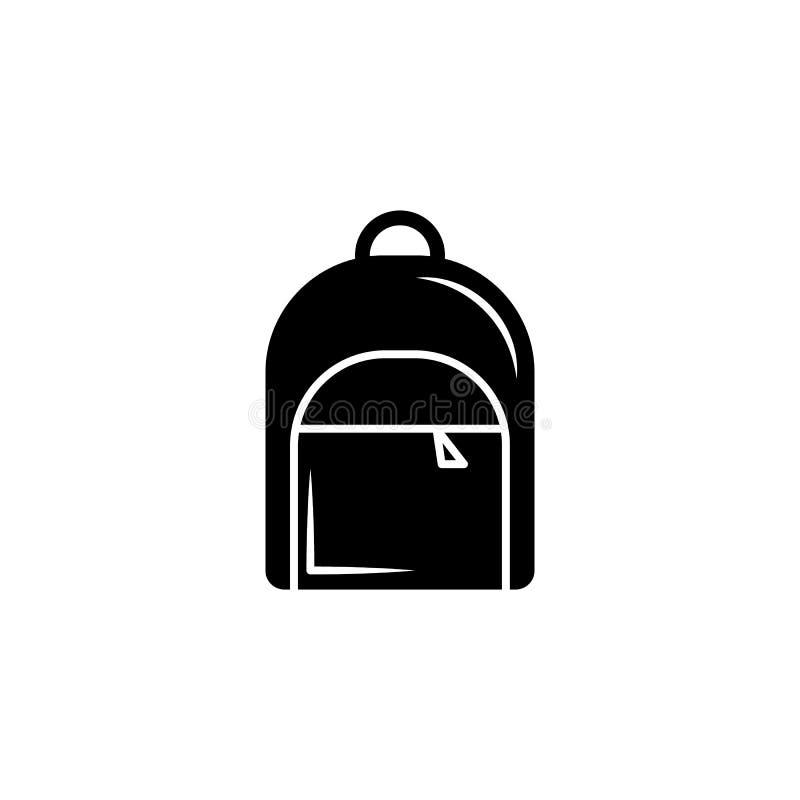 Icona dello zaino Icona di graduazione di vettore Istruzione, accademica illustrazione vettoriale