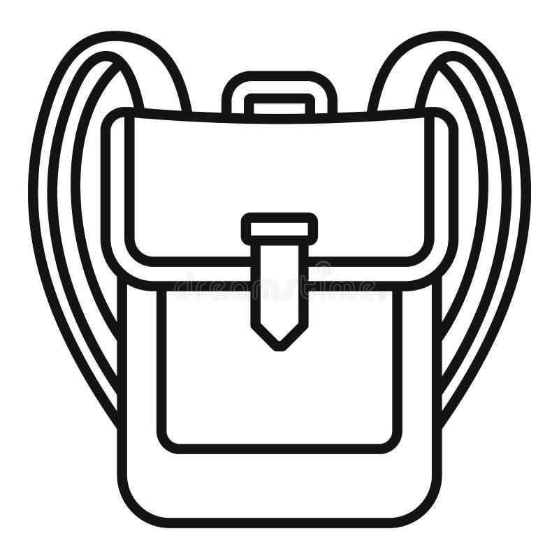 Icona dello zaino, stile del profilo royalty illustrazione gratis