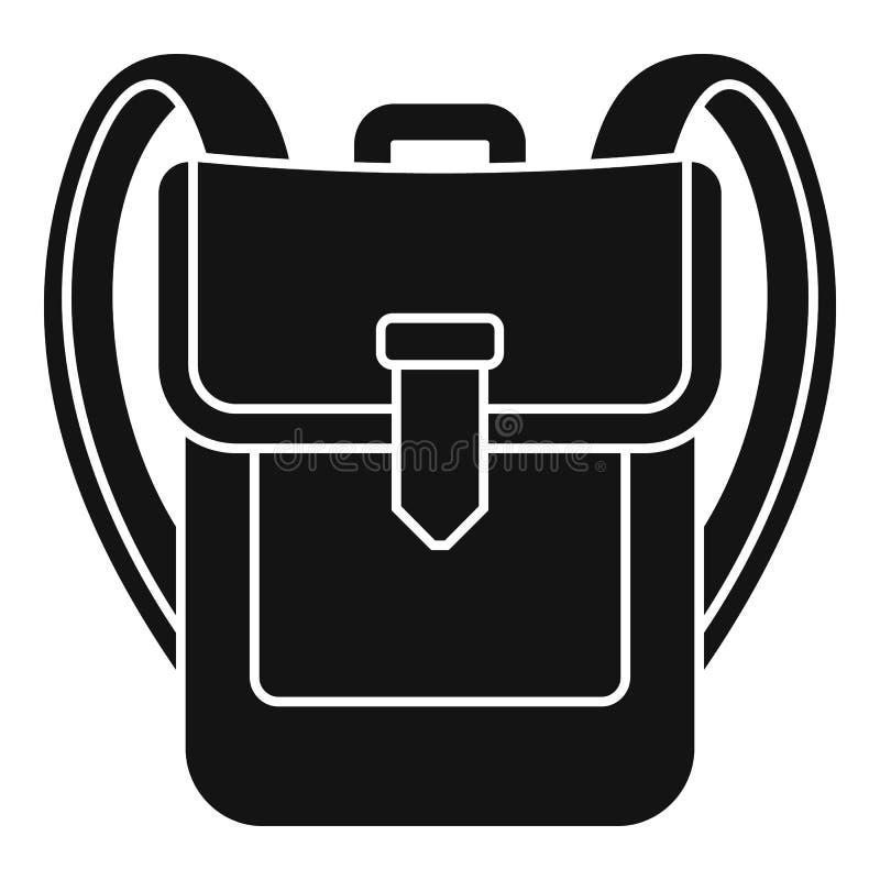 Icona dello zaino, stile semplice illustrazione di stock