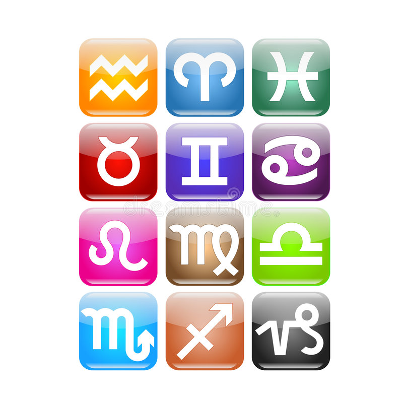 Icona dello zodiaco royalty illustrazione gratis