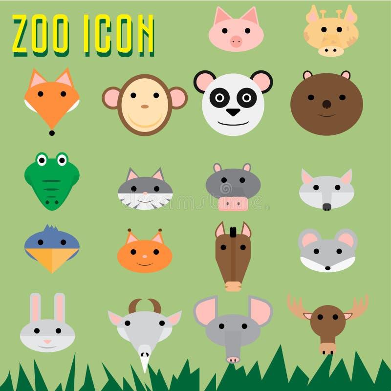 Icona dello zoo fotografie stock