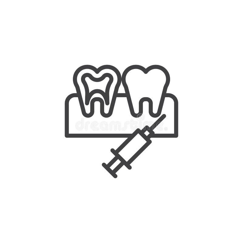 Icona dentaria del profilo di anestesia royalty illustrazione gratis