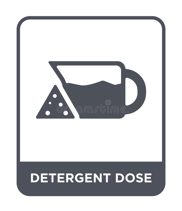 icona detergente della dose nello stile d'avanguardia di progettazione icona detergente della dose isolata su fondo bianco icona  royalty illustrazione gratis