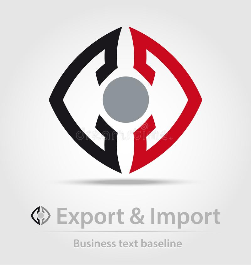 Icona di affari di importazione e dell'esportazione illustrazione vettoriale