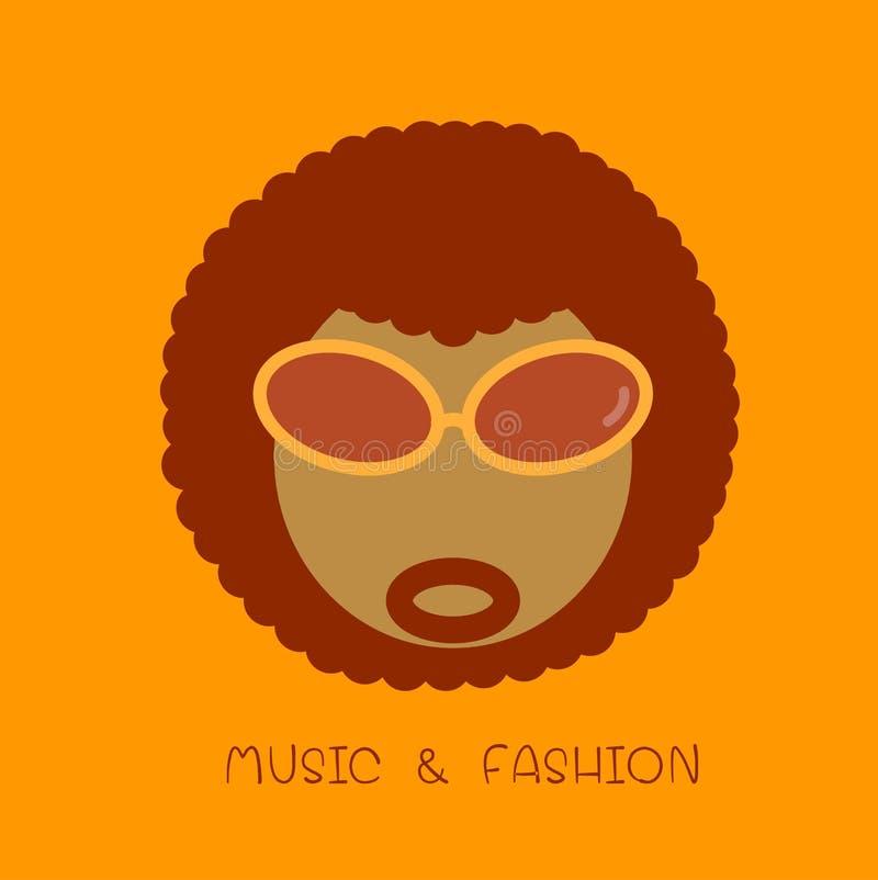 Icona di afro illustrazione di stock
