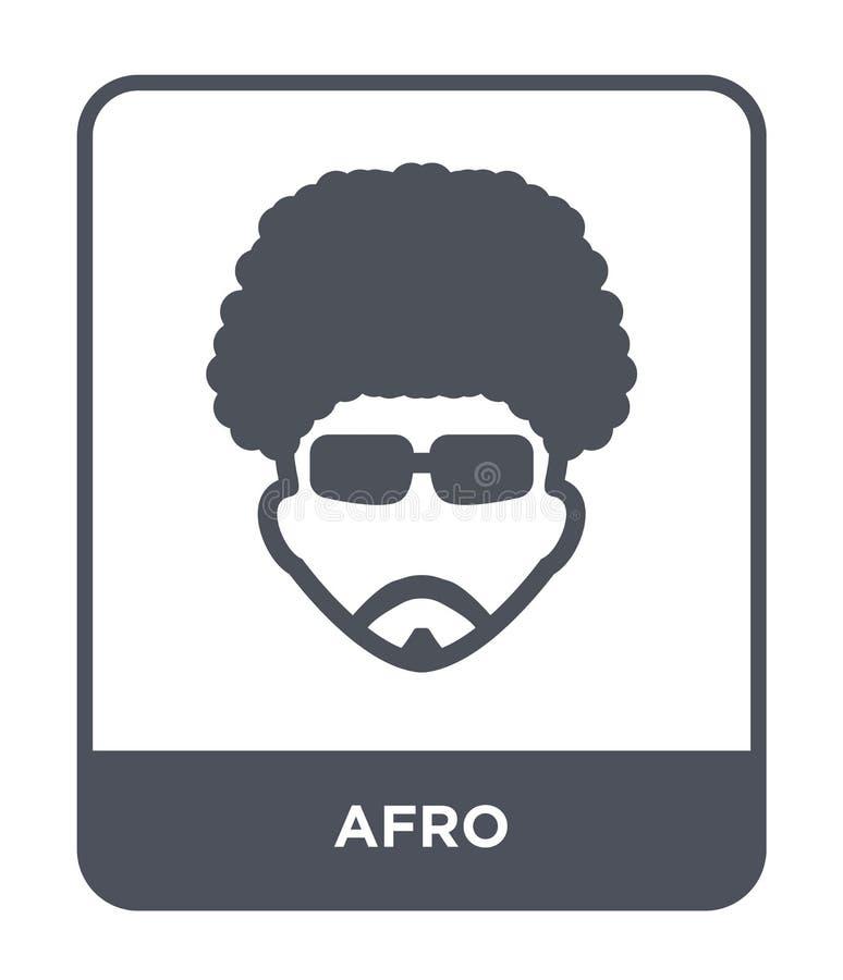 icona di afro nello stile d'avanguardia di progettazione icona di afro isolata su fondo bianco simbolo piano semplice e moderno d illustrazione di stock