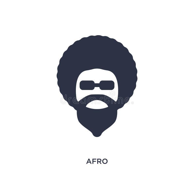 icona di afro su fondo bianco Illustrazione semplice dell'elemento dal concetto della discoteca illustrazione vettoriale