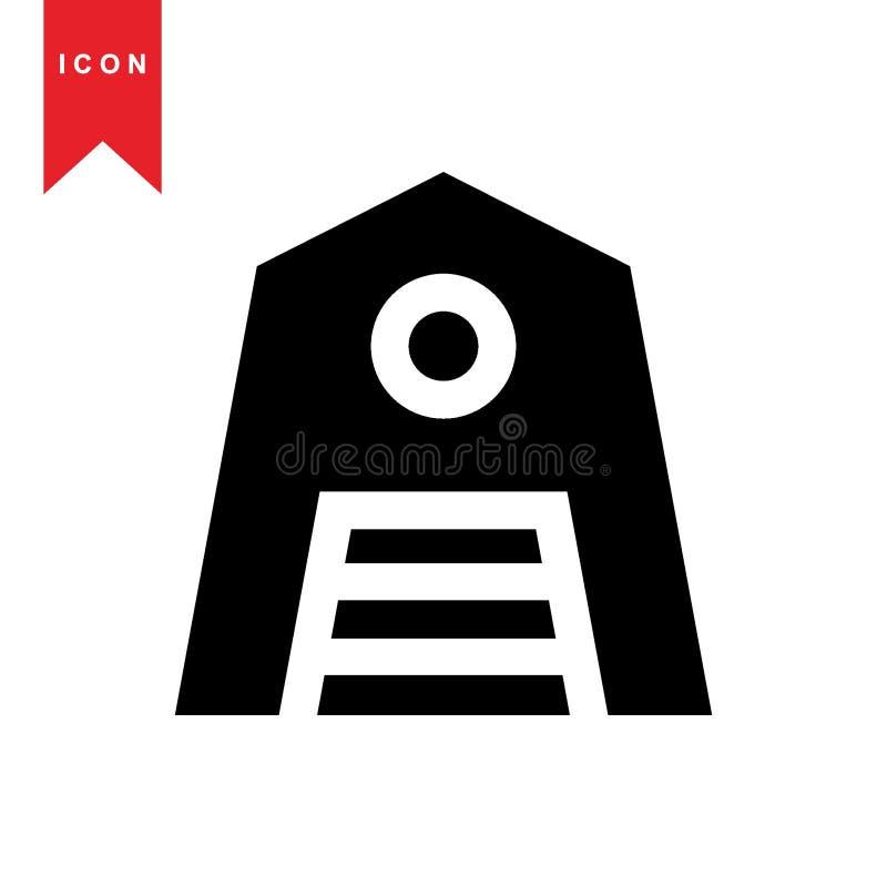 Icona di agricoltura del granaio illustrazione vettoriale