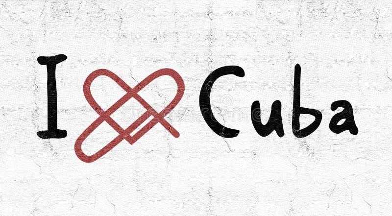Icona di amore di Cuba illustrazione di stock