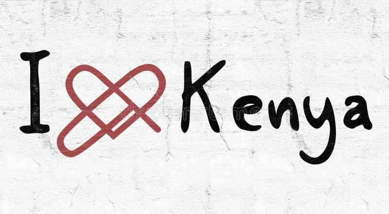 Icona di amore del Kenya illustrazione di stock