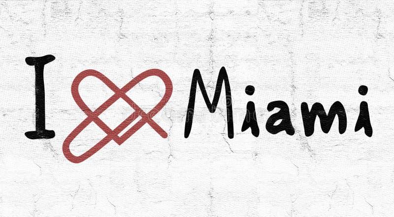 Icona di amore di Miami illustrazione di stock