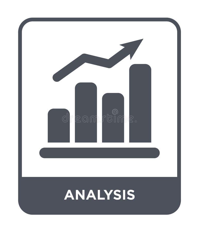icona di analisi nello stile d'avanguardia di progettazione Icona di analisi isolata su fondo bianco piano semplice e moderno del illustrazione vettoriale