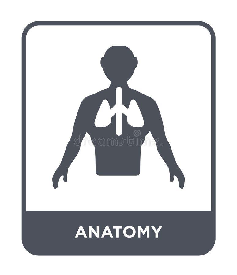 icona di anatomia nello stile d'avanguardia di progettazione icona di anatomia isolata su fondo bianco simbolo piano semplice e m royalty illustrazione gratis