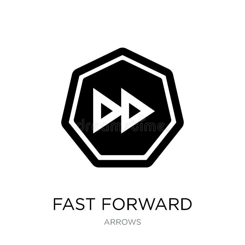 icona di andata veloce nello stile d'avanguardia di progettazione Icona di andata veloce isolata su fondo bianco icona di andata  illustrazione di stock