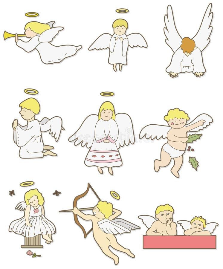 Icona di angelo del fumetto royalty illustrazione gratis